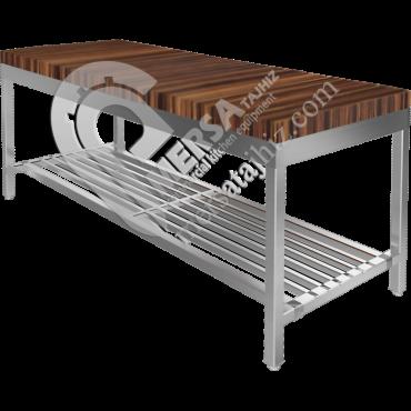 میز کار رویه چوبی
