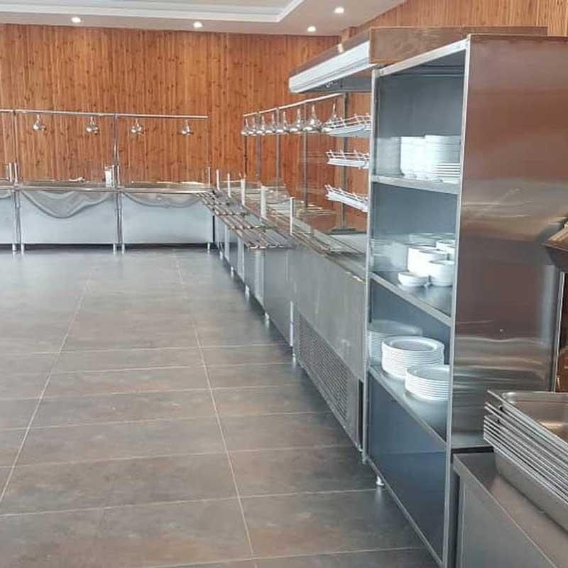 خط کامل سلف سرویس آشپزخانه صنعتی