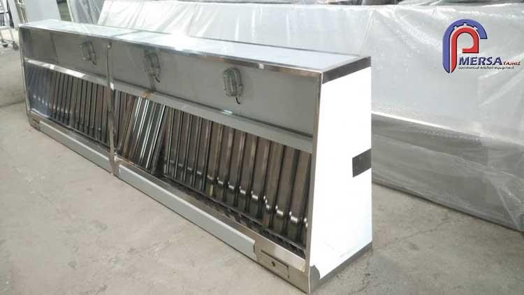 هود صنعتی آشپزخانه ساخت شرکت مرسا تجهیز