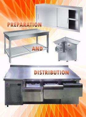 تجهیزات آمادهسازی و نگهداری آشپزخانه صنعت