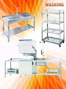 تجهیزات شستشو و نظافت آشپزخانه صنعتی