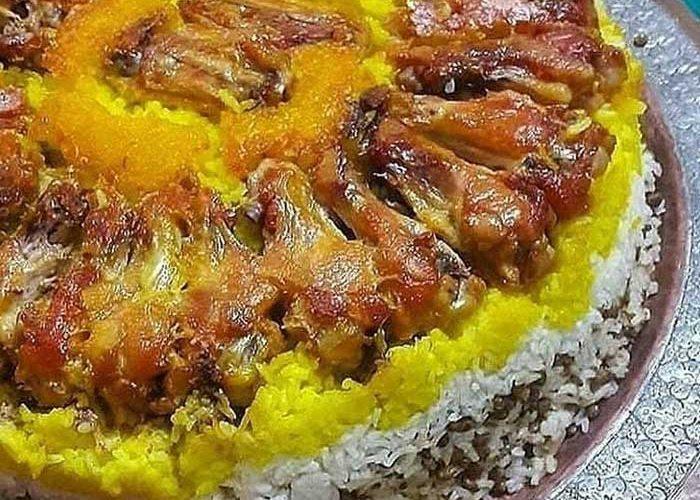 طرز تهیه ته دیگ ران مرغ